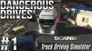Dangerous Drives #1 (Embankment, The Flood, Rock Concert) - Scania Truck Driving Simulator