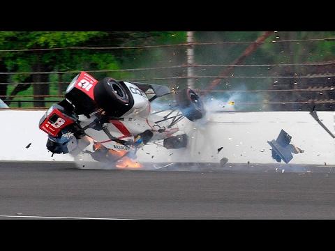 2017 Indianapolis 500 Qualifying - Sebastian Bourdais Crash