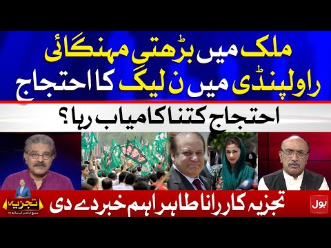 PMLN Protest against Inflation at Rawalpindi