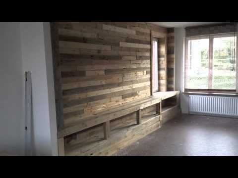 pallet wall youtube. Black Bedroom Furniture Sets. Home Design Ideas