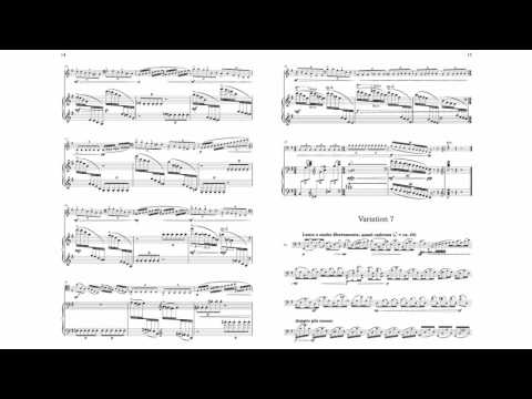 Nine Variations on an Original Romantic Theme for cello and piano by Guy Bacos