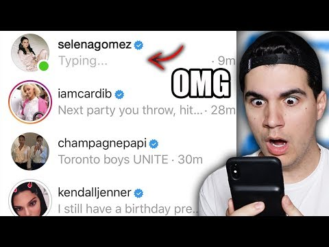 DMing 100 Celebrities To See Who Would Reply! **YOU WON'T BELIEVE THIS**