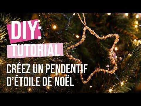 DIY Tutoriel: Créez un pendentif d'étoile de Noël