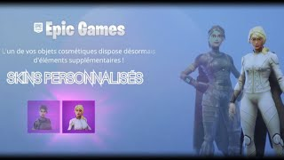 FORTNITE: ON CAN PERSONALIZE OUR SKINS! THANK YOU EPIC GAMES!
