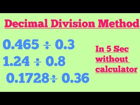 Divide decimal number part 2  decimal division method