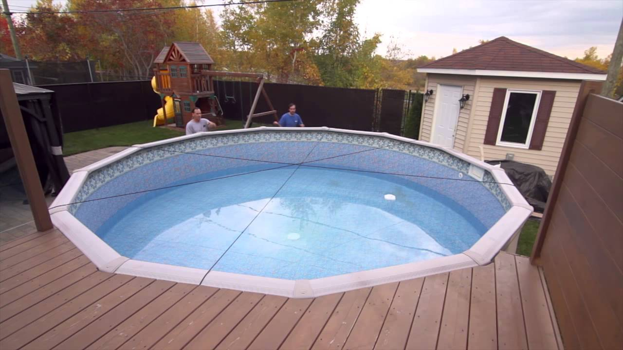 Toile Soleil : Winter cover for above-ground pool - YouTube