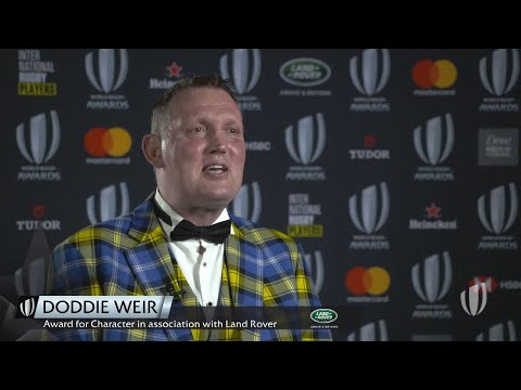 Doddie Weir reacts to winning Award for Character