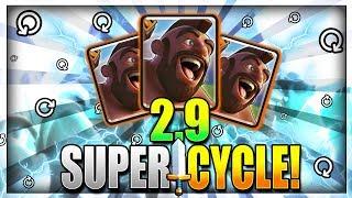INSANE HOG CYCLE!! NEW 2.9 ELIXIR SUPER FAST CYCLE HOG RIDER DECK - Clash Royale Hog Deck 2018
