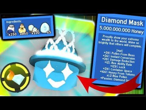 Bee Swarm Diamond Mask Diamond Drain Huge Container Space