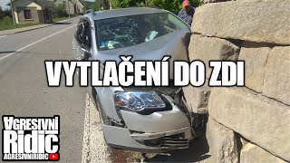 Car crashed into the wall, Truck in the opposite direction, Drunk Russian, Aggressive Dashcam