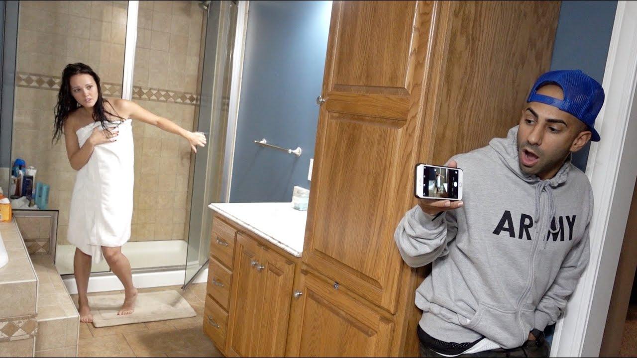 Caught Naked In Shower Prank