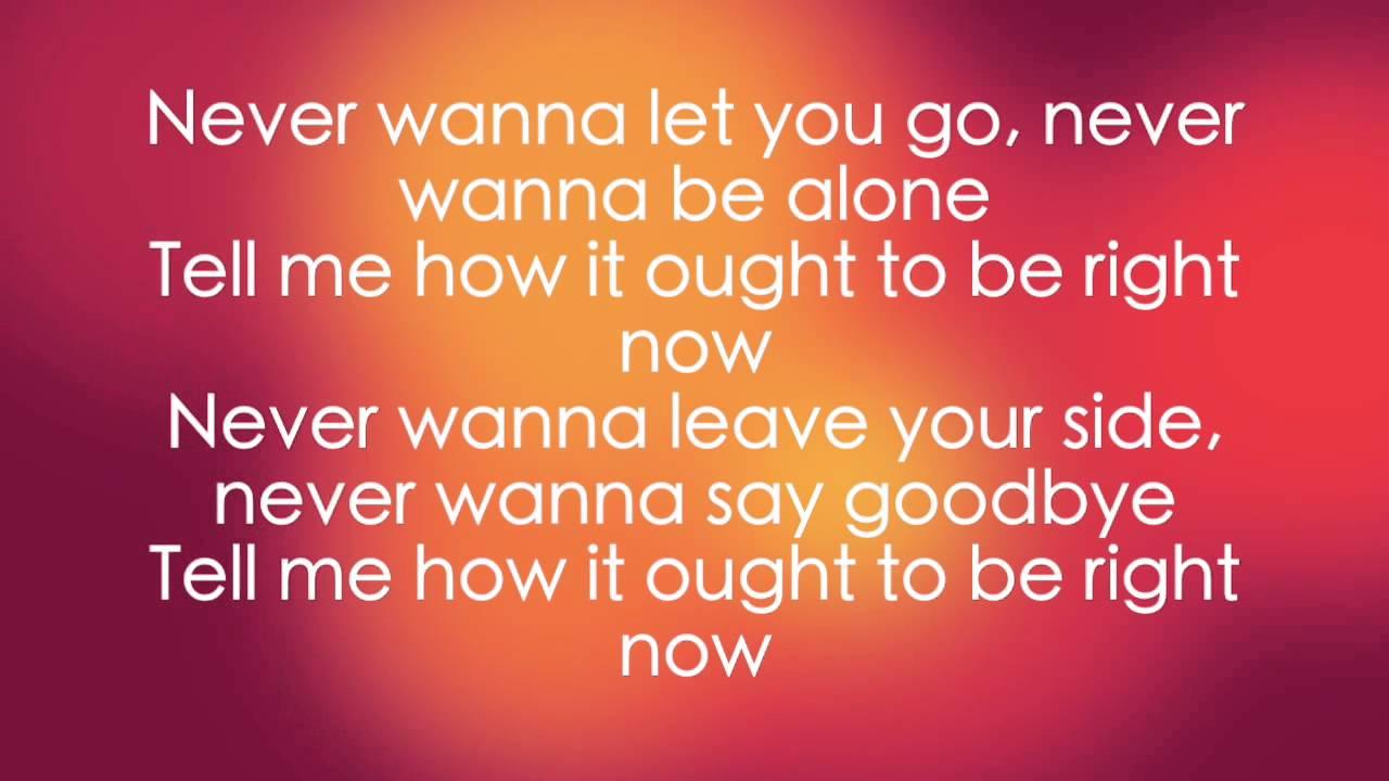I never wanna leave you lyrics