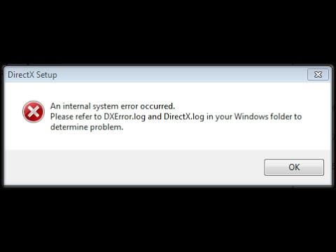 Error while updating directx