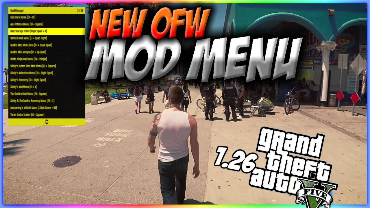 GTA V Online , OFW Mod Menu 1.26 on PS3 no jailbreak (Video Tutorial) ,  YouTube