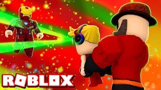 WE ARE FAMILY OF INCREDIBLES in ROBLOX 2 PLAYER SUPERHERO TYCOON