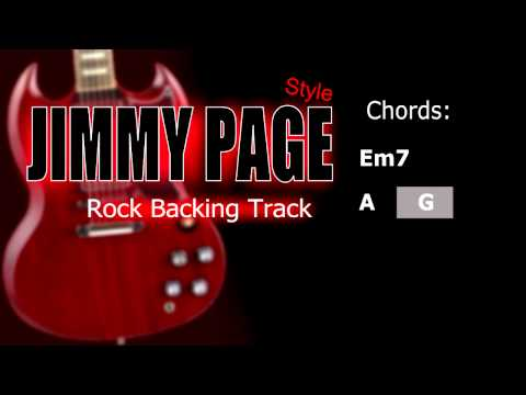 Rock Jimmy Page Style Guitar Backing Track 86 Bpm Highest Quality