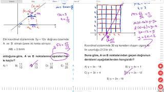 Analitik Geometri A+3 testi (ACİL GEOMETRİ)