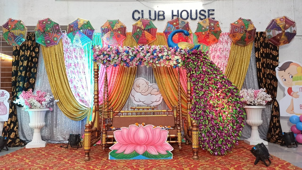 dohale jevan decoration - simple baby shower decoration at ...