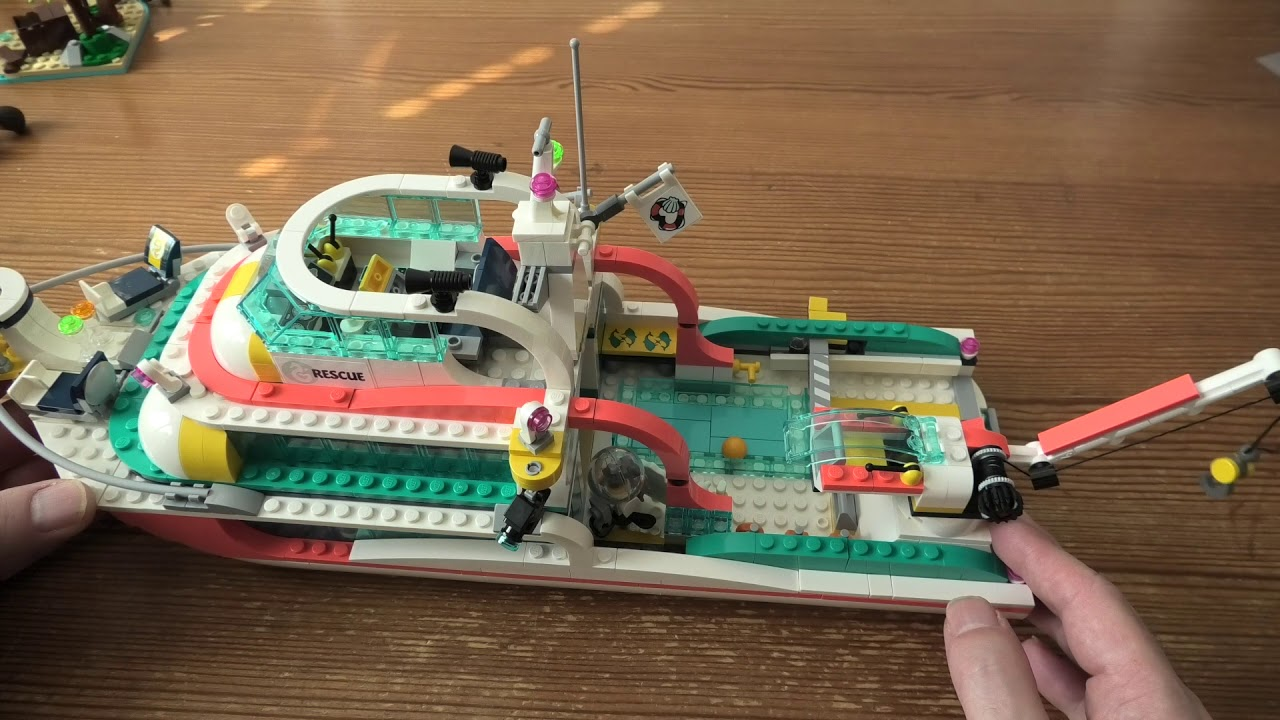 Review Lego Friends Rescue Mission Boat SET 41381 4K - YouTube