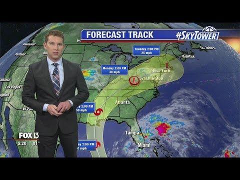 Tropical Storm Nate forecast: Thursday night
