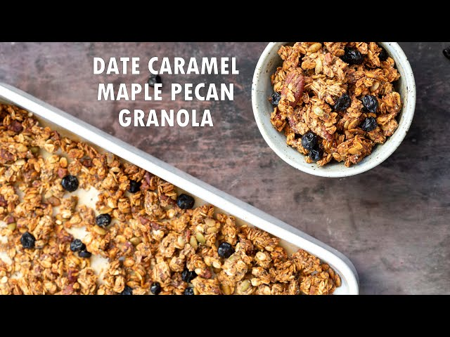 VEGAN DATE CARAMEL MAPLE PECAN GRANOLA Gluten-free | Vegan Richa Recipes