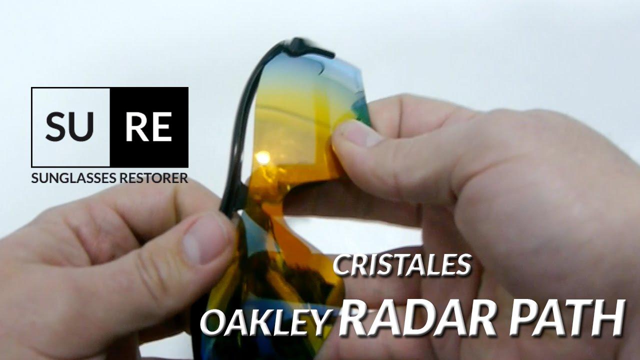Lentes Oakley Radar Path – Como cambiar los cristales - YouTube