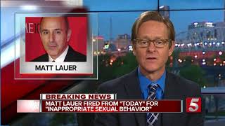 Matt Lauer Fired From NBC News Over Sexual Misconduct Allegations