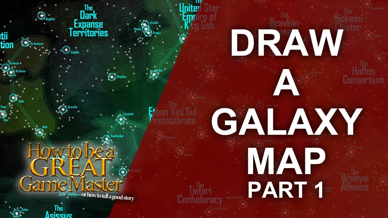Great GM - Tutorial for rpg map making for a Space /Sci Fi Setting Part 1 -  Game Master Tips #GMTips