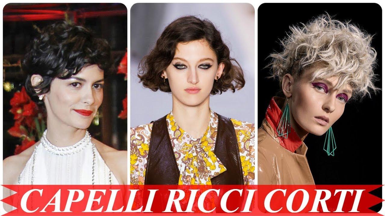 Ultimi Taglio Capelli Corti Ricci Donne 2018 Youtube