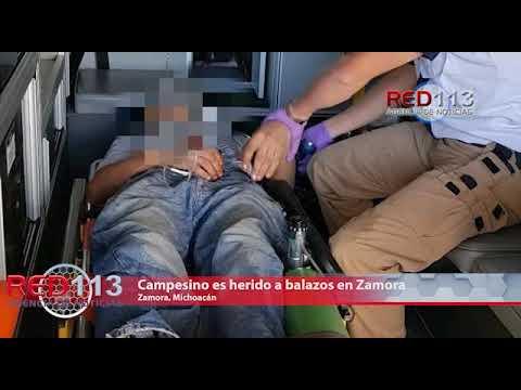 VIDEO Campesino es herido a balazos en Zamora