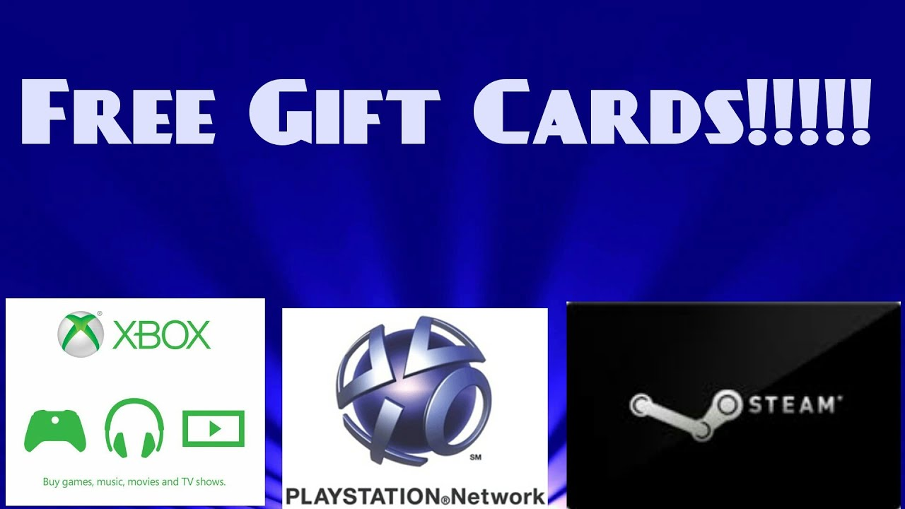 How To Get Free Xbox,PSN,Steam Gift Cards For Free 2016!!!! - YouTube
