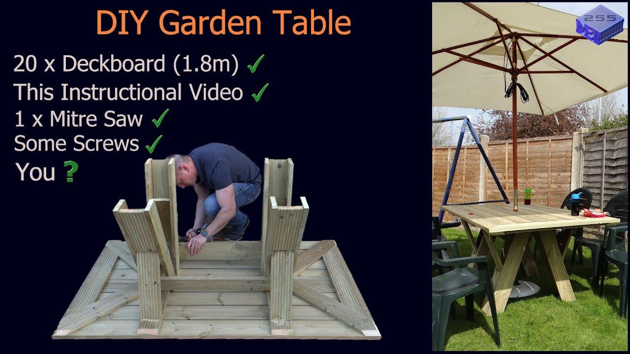 DIY Decking board Garden Table.