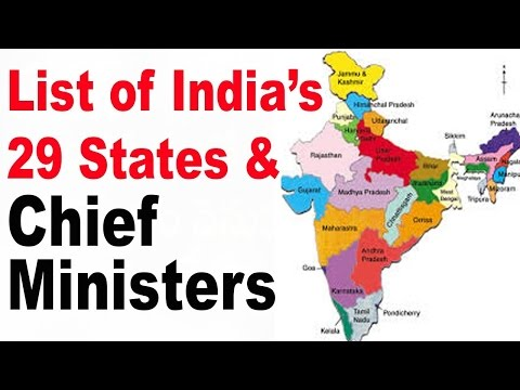 List of Current Chief Ministers in India 2017