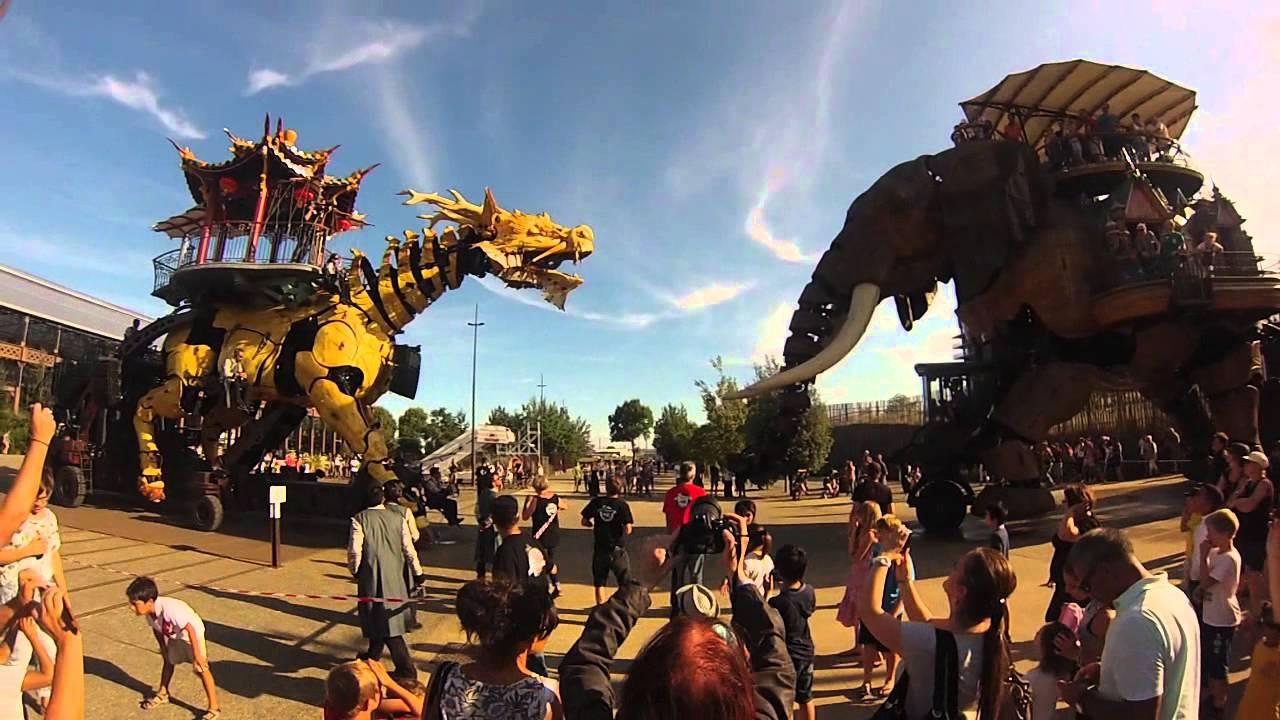 LongMa et l'éléphant - Machines de l'île, Nantes [GoPro ...