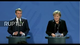 LIVE: Macron and Merkel hold joint statement in Berlin