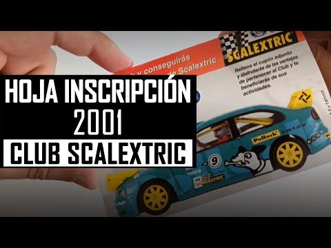 📝 CLUB SCALEXTRIC 2001 【 Documentación 】 HOJA de INSCRIPCIÓN para hacerse socio