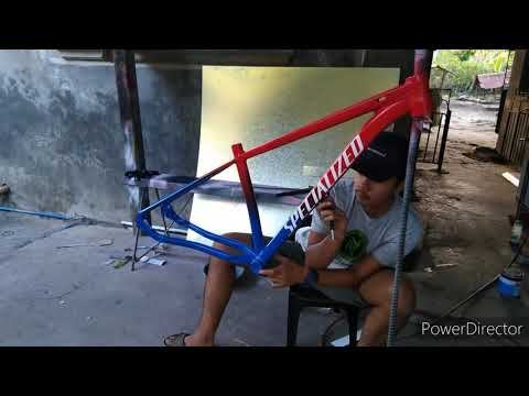 REPAINTING BIKE FRAME - simplon to specialized