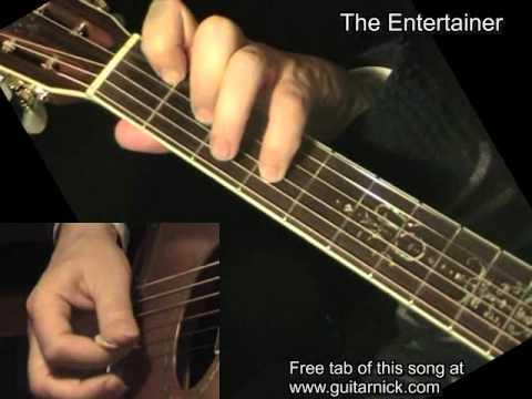 THE ENTERTAINER Flatpicking Guitar Tab: GuitarNick com