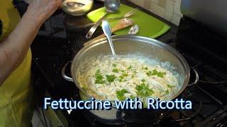Italian Grandma Makes Fettuccine with Ricotta