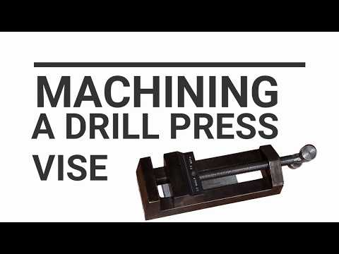 Making a Drill press vise machined from raw steel Part 1