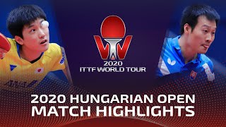 Tomokazu Harimoto vs Wang Yang | 2020 ITTF Hungarian Open Highlights (R32)
