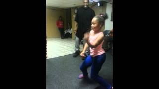 Dance off...Eric vs Lay-Lay (9 yr old) must see