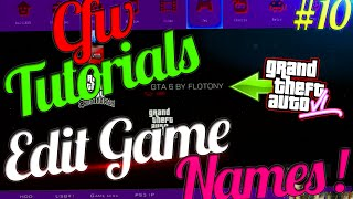 CFW Tutorials #10 | Change Game Name & Add Symbols ! / Changer Le Nom Des Jeux ! ( Edit PARAM.SFO )