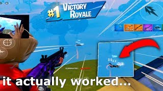 I tried a HIDDEN TRICK to improve my AIM in Fortnite Mobile...