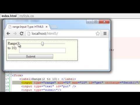 Form Input Type - Range: HTML5