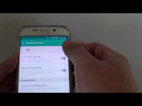 Samsung Galaxy S6 Edge: How to Turn Predictive Text On / Off