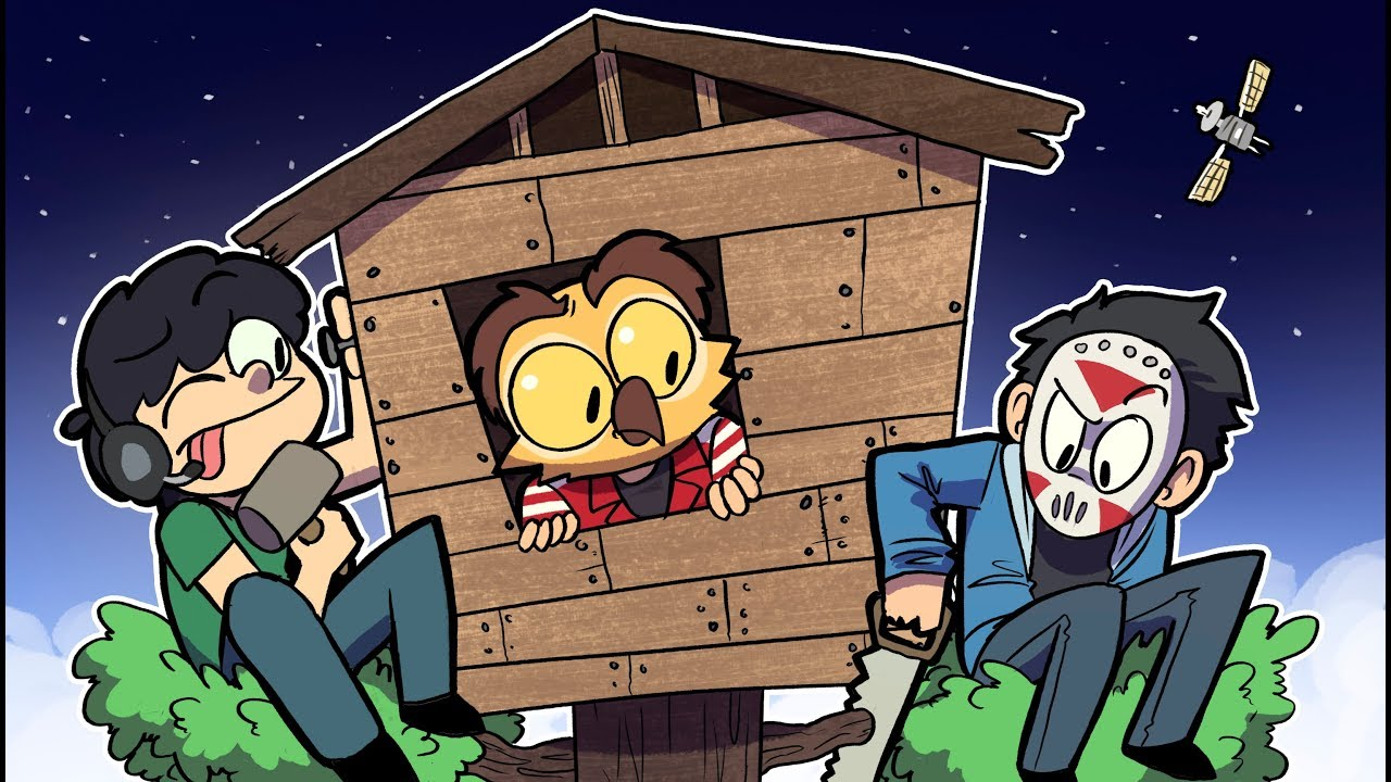Building VANOSS MINECRAFT TREE HOUSE at Max Height ~ Funny Minecraft