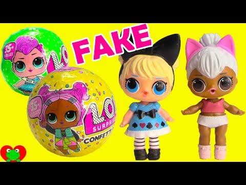 LOL Surprise Dolls Real Vs. FAKE