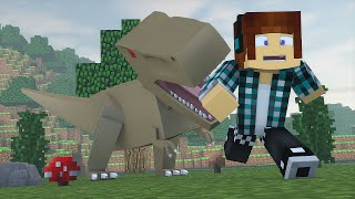 Minecraft : O T-REX FICOU BRAVO !! - ARK CRAFT SURVIVAL #14