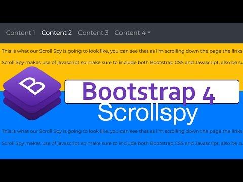 Bootstrap 4 Scrollspy Tutorial